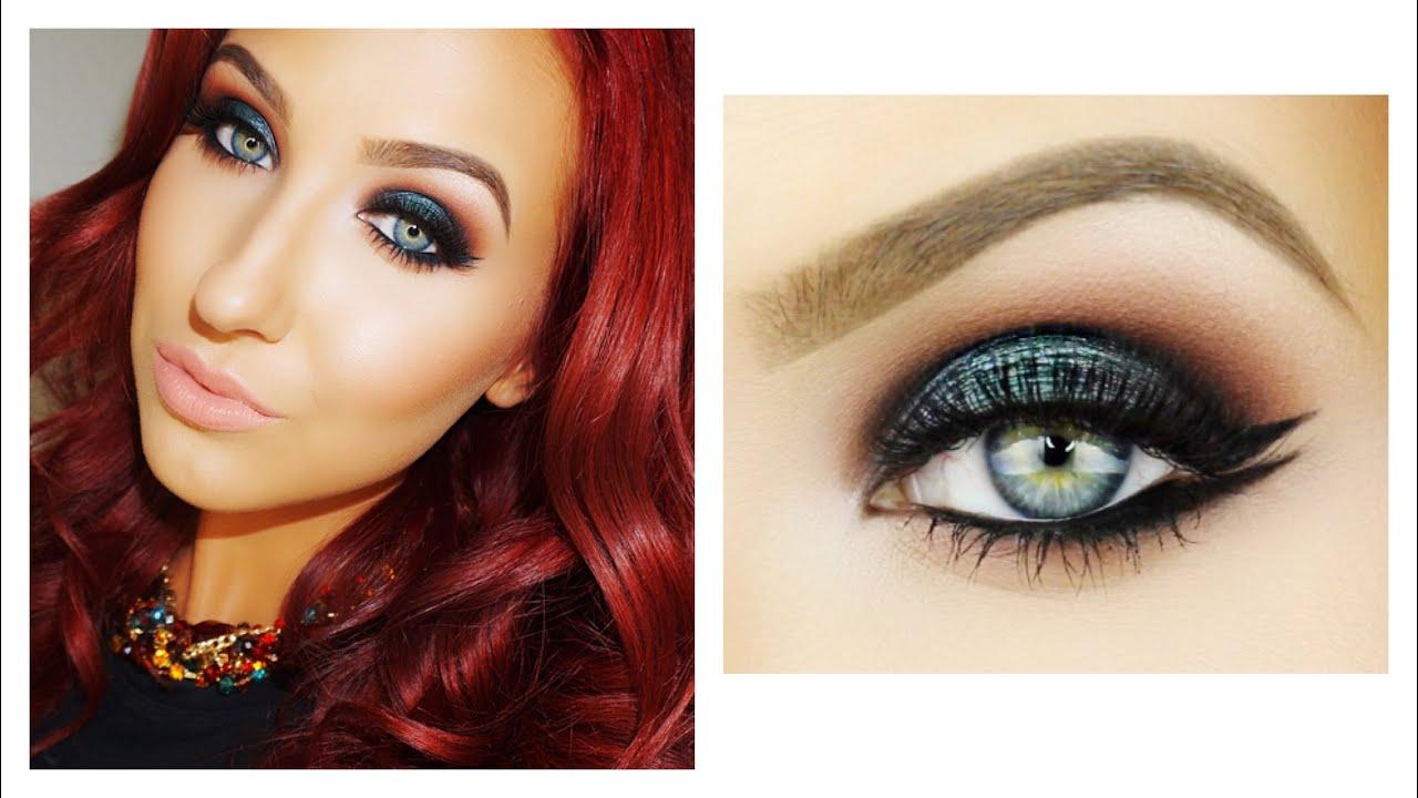 Emerald Smokey Eye Amp Double Wing Liner Makeup Tutorial
