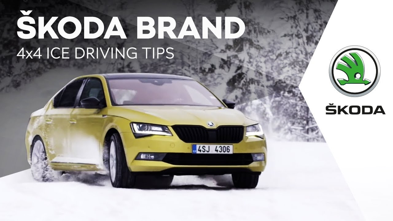 Skoda Brand 4x4 Ice Driving Tips Youtube
