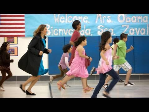 First Ladies Michelle Obama and Margarita Zavala at Maryland School