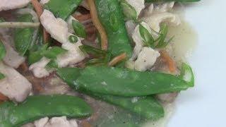 Moo Goo Gai Pan (chicken With Snow Peas)