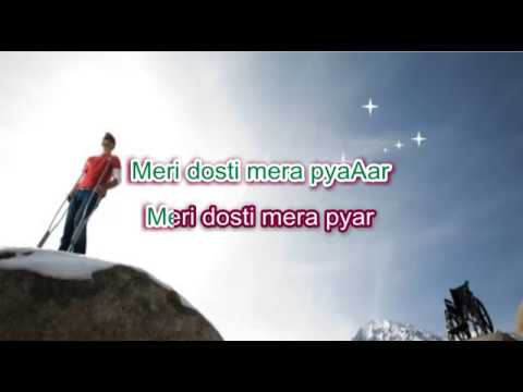 Koi Jab Raah Na Paaye - Dosti - Karaoke With Highlighted Lyrics