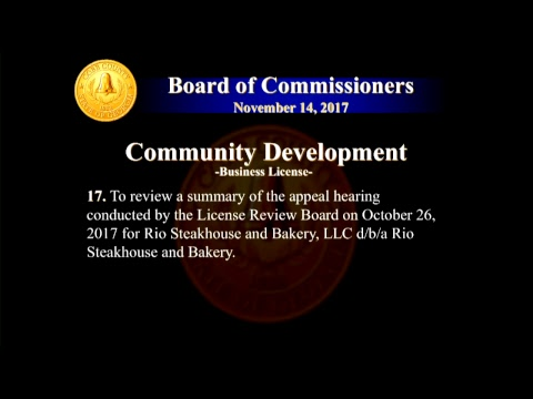 Cobb County Board of Commissioners Meeting  - 11/14/17