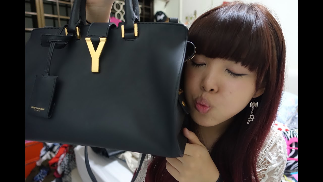 replica bags bangkok - ��������#2��Saint Laurent Cabas Chyc Bag Review + What fits in��ʥ ...