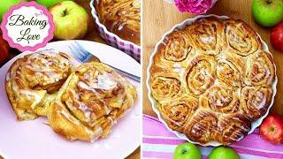 Die leckersten Apfel-Zimtschnecken I sehr weich und saftig I Zimtschnecken mit Apfelfüllung