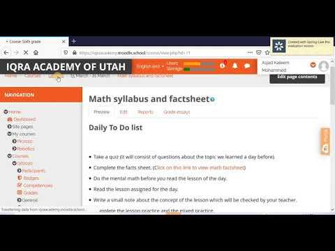 Iqra Academy of Utah's Online Portal