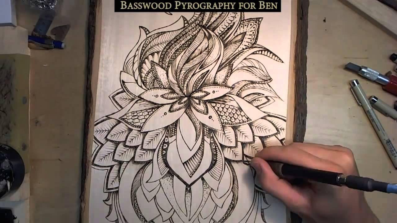 wood burning  pyrography  compilation