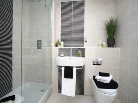 Watch on design of tiles in bathroom