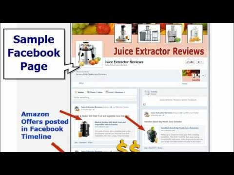 FB Review Poster - Amazon Affiliate Marketing Tool for Facebook - sample facebook timeline