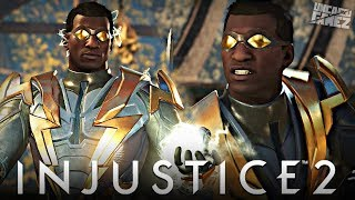 Injustice 2 Ranked Online - First Time Using Black Lightning Online!!