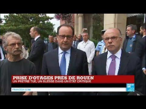 REPLAY - Discours de François Hollande après la tuerie de l'église de Saint-Étienne-du-Rouvray