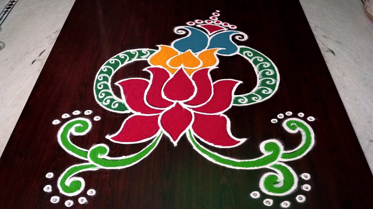 rangoli designs of lotus lotus kolam designs rangoli lotus designs rangoli of lotus
