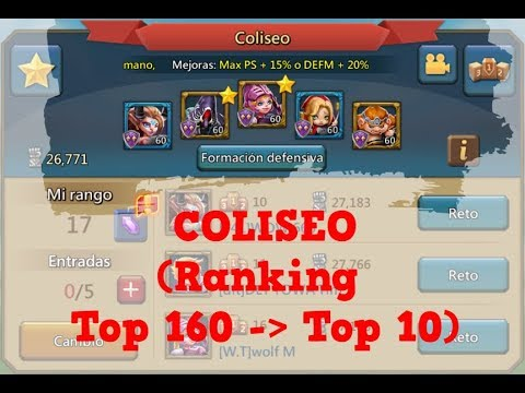 Lords Mobile ES - Coliseo (info Ranking)