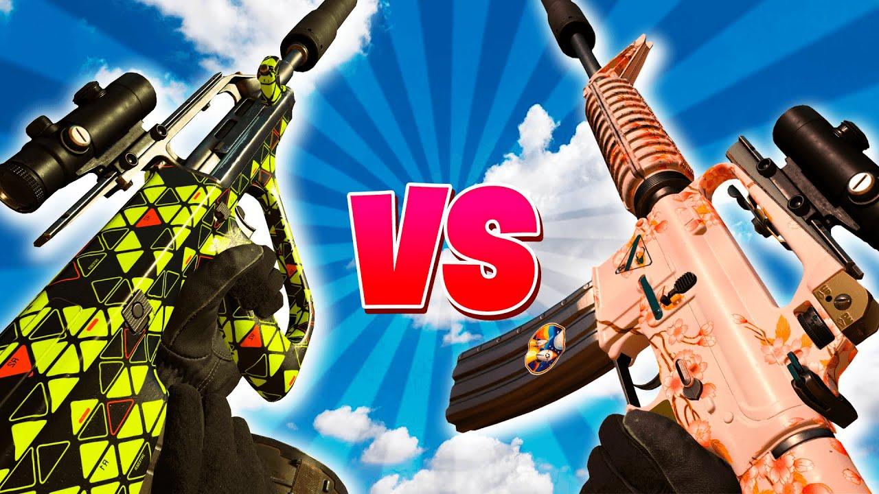 Download AUG vs M16 ¿CUÁL es el MEJOR FUSIL de RAFAGAS en WARZONE?
