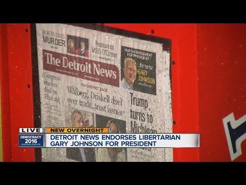 Detroit News endorses Libertarian Gary Johnson for president