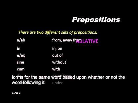 Latin Prepositions