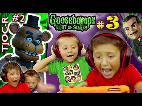GOOSEBUMPS NIGHT of JUMP SCARES Part 3 w/ FNAF TJOC Reborn Part 2 (FGTEEV Mike & Chase)