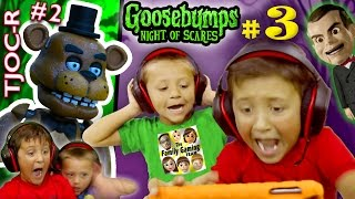 GOOSEBUMPS NIGHT of JUMP SCARES Part 3 w/ FNAF TJOC Reborn Part 2 (FGTEEV Mike & Chase)