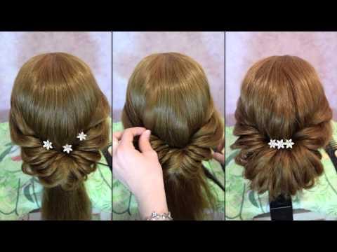 Быстрая и легкая прическа на длинные волосы