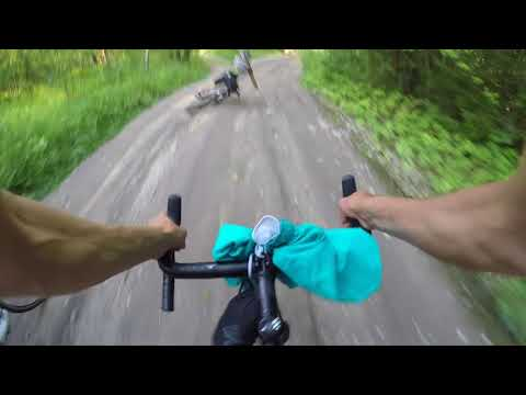 Cycling around Voskresensk and searching gigantic excavator