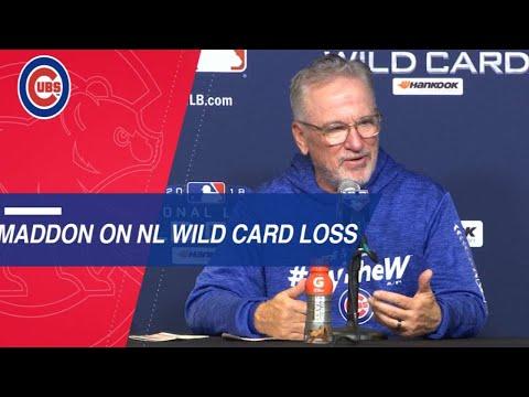 Maddon on team's season after Wild Card loss
