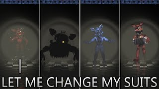 Foxy is doing Typical Foxy's Job in FNAF 2