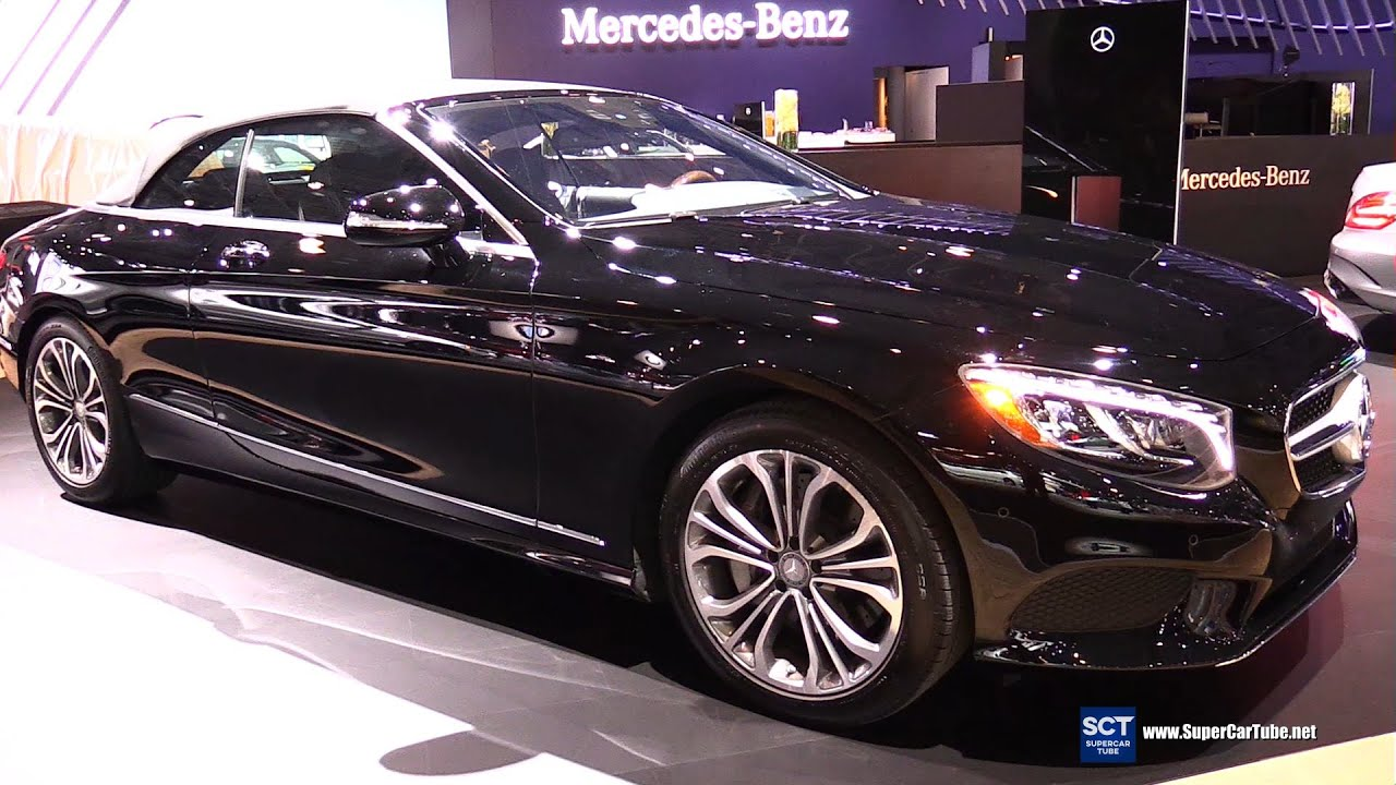 2017 mercedes s class s550 cabriolet exterior and interior walkaround 2016 new york auto. Black Bedroom Furniture Sets. Home Design Ideas