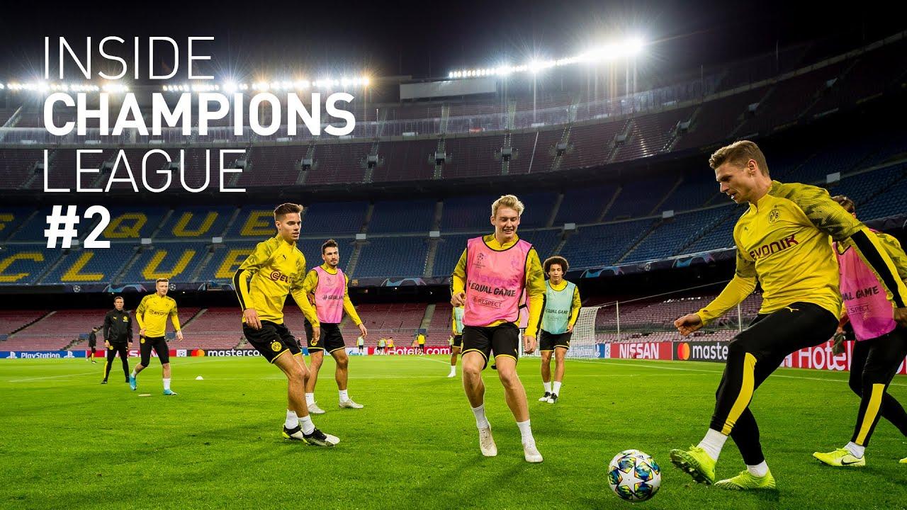 BVB betritt das Camp Nou & absolviert das Abschlusstraining | Inside Champions League