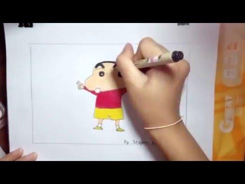 ชินจัง วาดภาพระบายสี, chinjang drawing