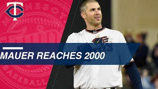 Joe Mauer Collects His 2,000th Career Hit in Minnesota