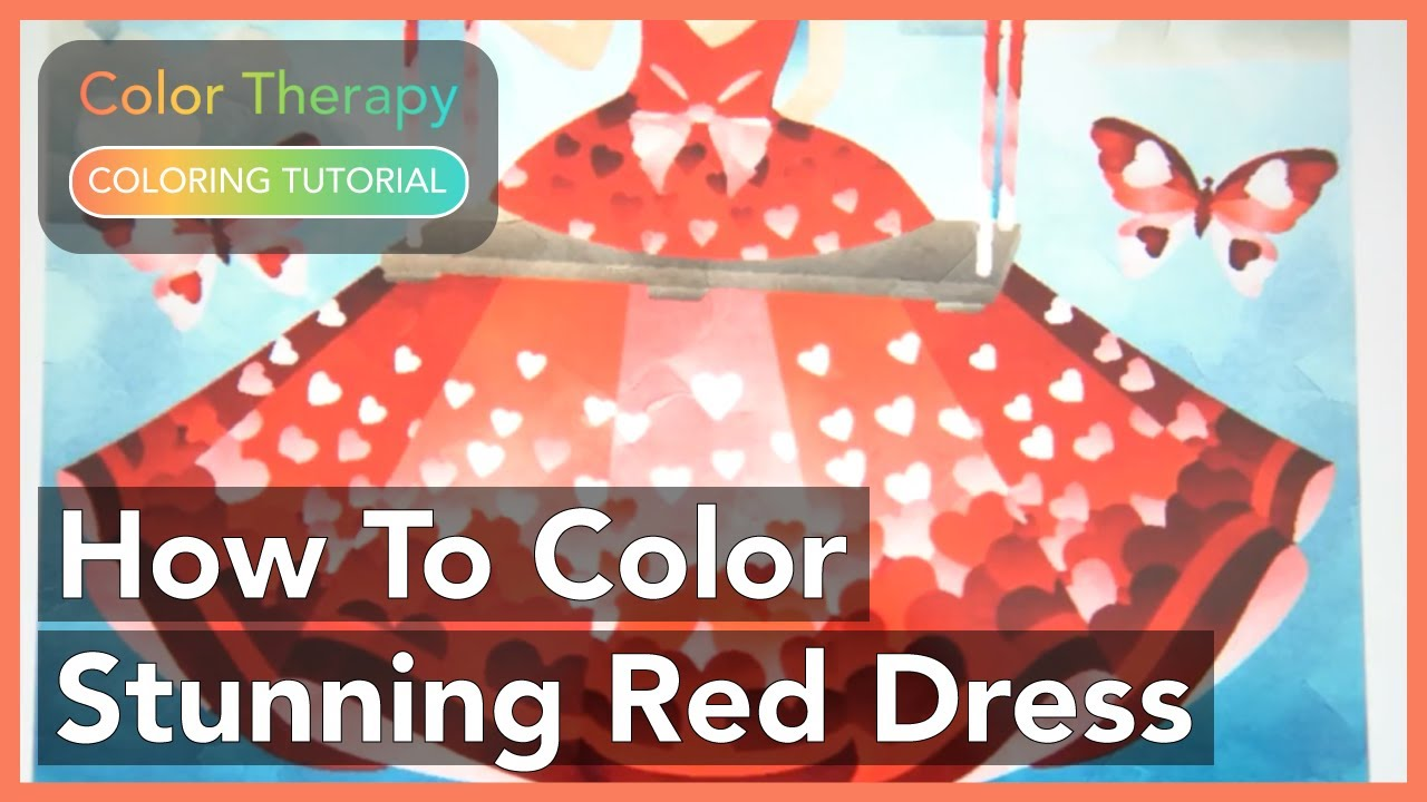 Colour therapy for stomach - How To Color A Stunning Red Dress With Color Therapy App