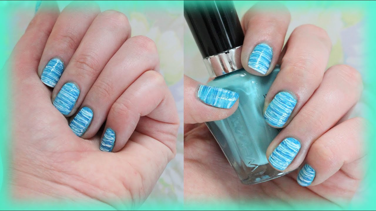 Summer floss nail design for short nails youtube prinsesfo Choice Image