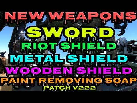 ARK: Survival Evolved -  Sword | Riot Shield | Metal Shield | Wooden Shield | Soap