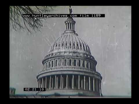 New York and Washington D.C., 1950's. Archive film 1189