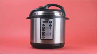 BELLA 6 Quart Pressure Cooker with 10 pre set functions and Searing Technology, 1000 watt