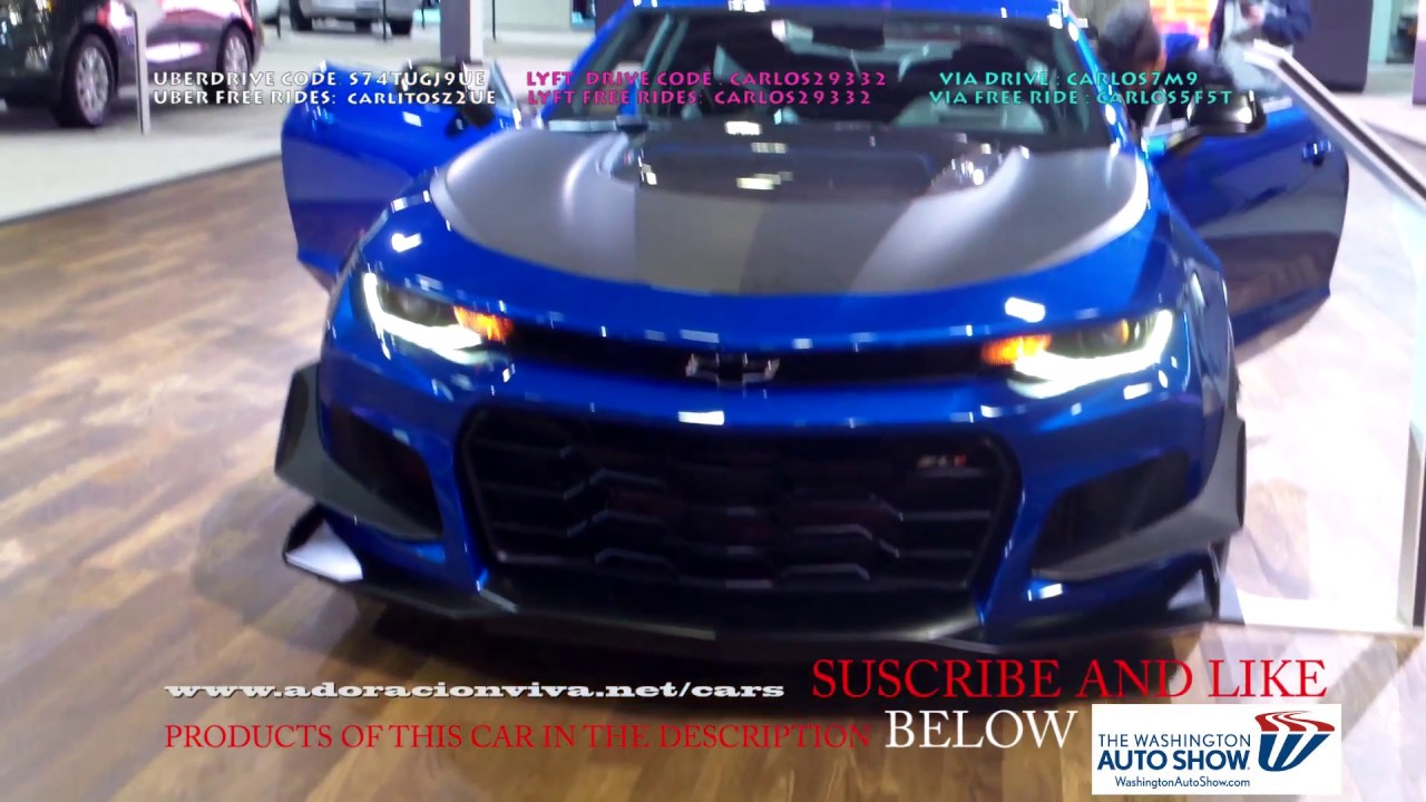2019 Chevy Camaro Zl1 2lt Ss Blue Washington Dc Auto Show 2018 Youtube