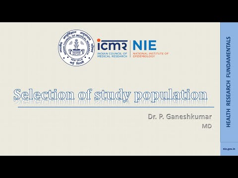 Selection of study population