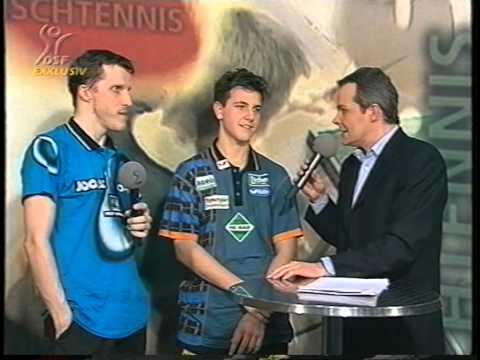 Tischtennis Bundesliga: Jorg Rosskopf Timo Boll Interview Feb 99