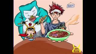 Shokugeki No Soma Food Wars Soma Feeds Snorlax and Mighty Pegasus