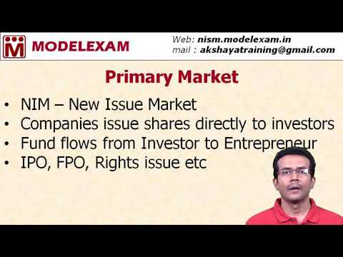 Capital Market - Primary & Secondary Markets
