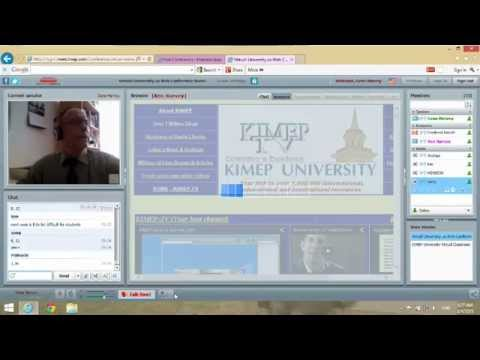 KIMEP distance learning course to students in Korea - Class 1