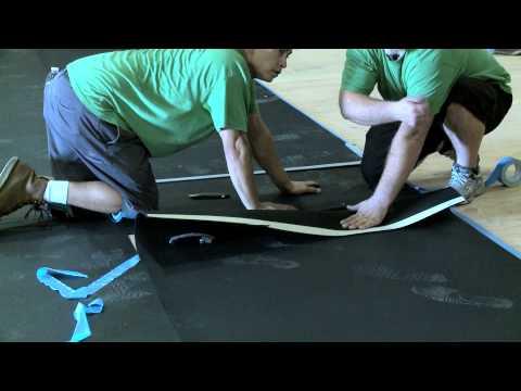 Seamless Gym Mat Installation