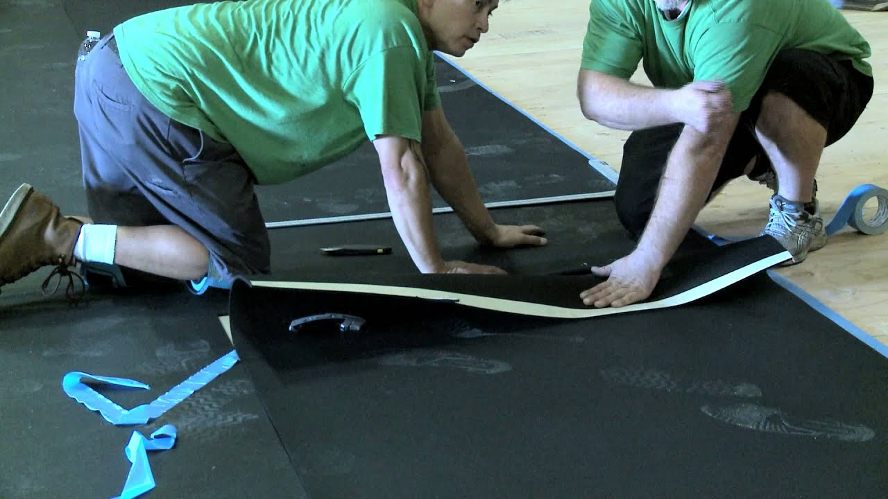 Seamless Gym Mat Installation Youtube