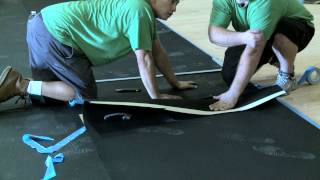 Seamless Gym Mat Installation