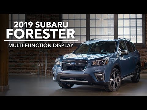 2019 Subaru Forester – Multi-Function Display