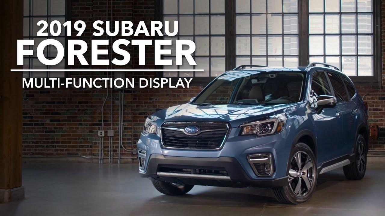 2019 Subaru Forester – Multi-Function Display