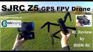 SJRC Z5 Review - GPS WiFi FPV Foldable RC Drone with Adjustable 1080P HD Camera