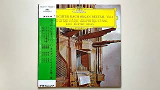 Kar Richter BACH BWV 565  トッカータとフーガ ニ短調  12 inch Record  1964 年 1  月 22  日   ~  26 日 コペンハーゲン イエスボー教会