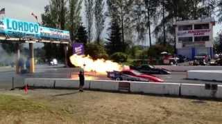 Jet dragsters and funny cars rumble the earth