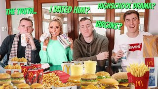 I kissed him?! the truth comes out? ft MY HIGHSCHOOL BOY FRIENDSHIP GROUP MCDONALDS MUKBANG!!