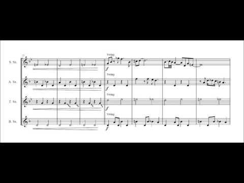 The James Bond theme for saxophone quartet